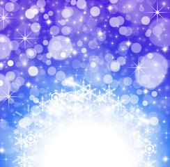 Winter Wallpaper background with glitter stars and snowflakes