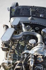 Wall Mural - Engine of vintage racing car in Bonneville Salt Flats