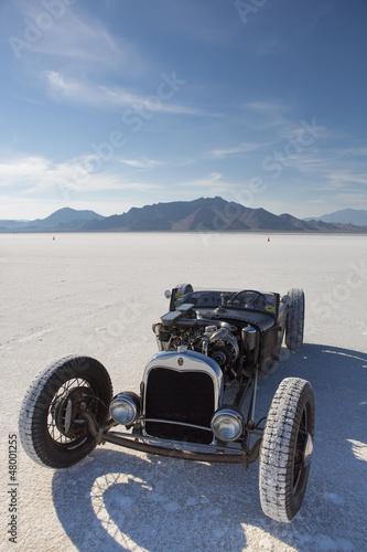 Wall mural Vintage racing car in Bonneville Salt Flats