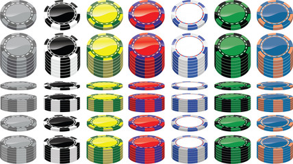 set of poker chips