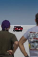 Wall Mural - Racing car in Bonneville Salt Flats