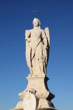 San Rafael Archangel statue in Cordoba, Spain