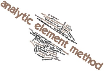 Word cloud for Analytic element method
