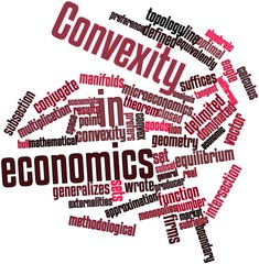 Word cloud for Convexity in economics