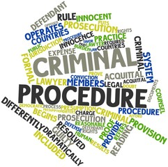 Word cloud for Criminal procedure