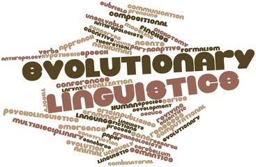 Word cloud for Evolutionary linguistics