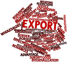 Word cloud for Export