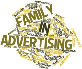 Word cloud for Family in advertising