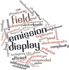 Word cloud for Field emission display