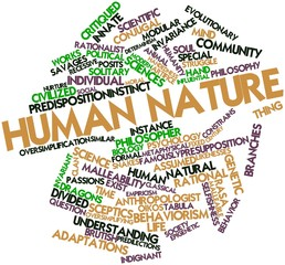 Word cloud for Human nature