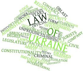 Word cloud for Law of Ukraine