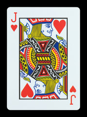 Playing cards - Jack of hearts