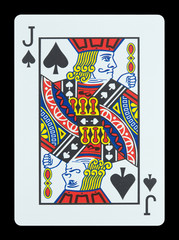 Playing cards - Jack of spades
