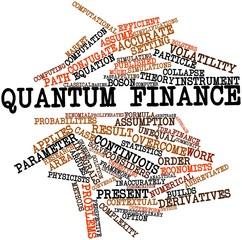 Word cloud for Quantum finance