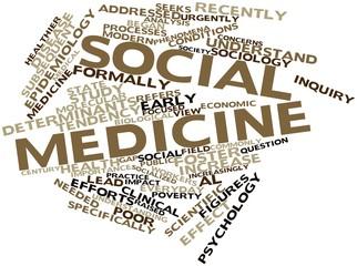 Word cloud for Social medicine