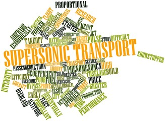 Word cloud for Supersonic transport
