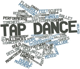 Word cloud for Tap dance