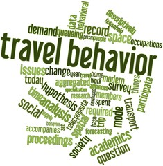 Word cloud for Travel behavior