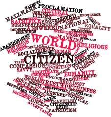 Word cloud for World citizen