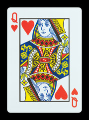 Playing cards - Queen of hearts