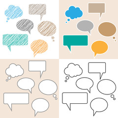 speech bubbles and balloons illustration collection background