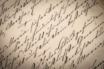 vintage ink handwriting. paper background
