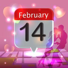Romantic date on calendar
