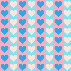 Lovely small hearts seamless pattern