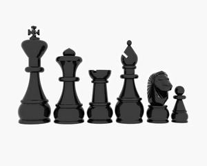 Chess blacks - 3D