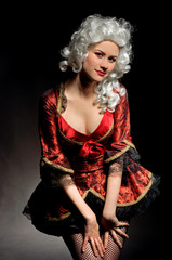 Young woman in baroque custome