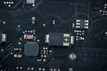 Electronic board closeup photo
