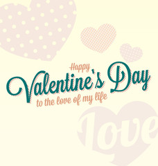 Vector Happy Valentine's Day Card