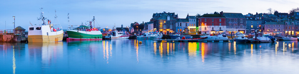 Padstow Harbour at Dusk, Cornwall England UK Wall mural