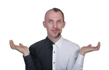 half-shaved man