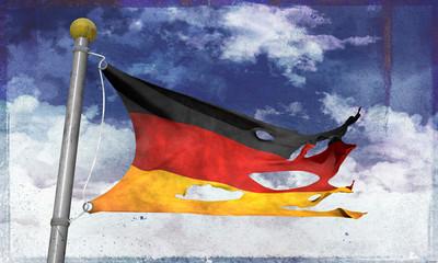 Tattered german flag