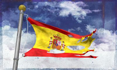 Tattered spanish flag