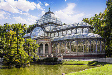 Foto op Plexiglas Madrid Crystal Palace in the Retiro Park, Madrid, Spain