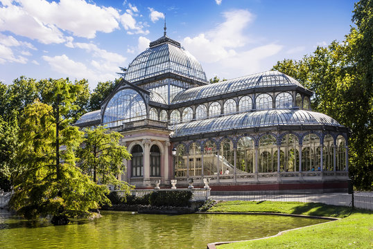 Crystal Palace in the Retiro Park, Madrid, Spain