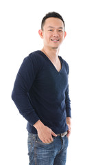 south east asian man. in casual, chinese