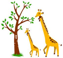 Tree and Giraffe