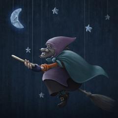 Epiphany rides a broom
