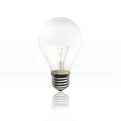Realistic bulb isolated on white. Vector design.