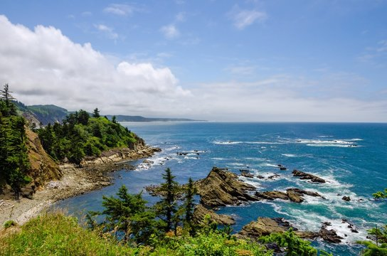 The Oregon Coast and the Pacific Ocean