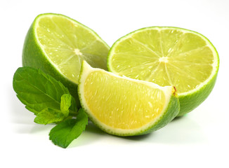 limes with mint