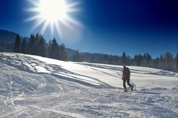 winter  people fun and ski