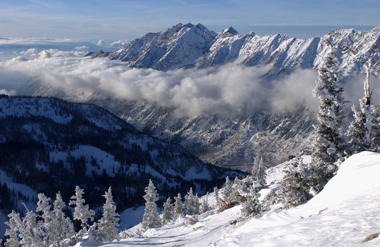 Spectacular view to the Mountains from Snowbird ski resort