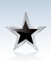 black silver star