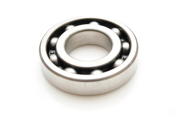 Ball bearing isolated on white background.