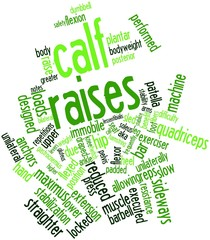 Word cloud for Calf raises