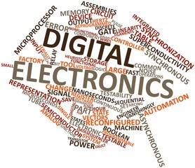 Word cloud for Digital electronics